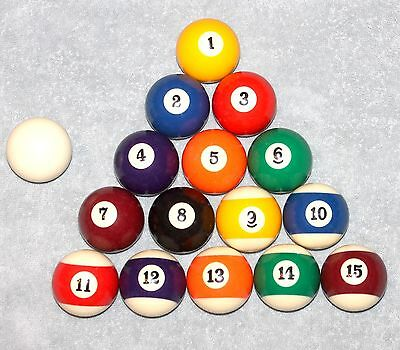 Vintage Aramith Super Pro Pool Ball Set with Cue Ball Complete Great Condition!