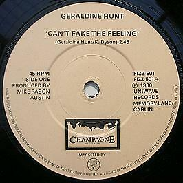 Geraldine Hunt - Can't Fake The Feeling - Champagne Records - 1980 #747468