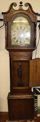 Handsome 30hour Grandfather clock -Carved Oak Case - Yates and Son from Penrith