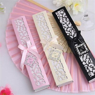 1pc Ivory Bridal Chinese Bamboo Silk Hand Fan Wedding Favors Guests Gifts