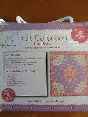 The Craft Cotton Co Quilt Collection SPRING MEADOW Fabric Small Quilt Kit PINK
