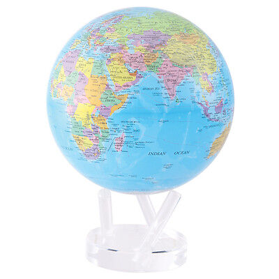 "MOVA Globe - Earth - blue ocean political -large globe 22cm 8.5"" - self rotating"