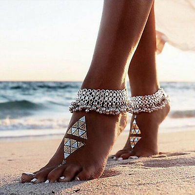 Foot Silver Bead Chain Barefoot Sandal Beach Ankle Bracelet New Jewelry Anklet