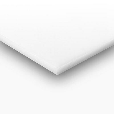 "White Plastic (HDPE) Cutting Board 1/2"" x 24"" x 48"" FDA/NSF"