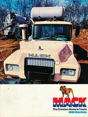 Mack Truck Original Data Sheet Mack DM Series Trucks Brochure Prospekt DM800