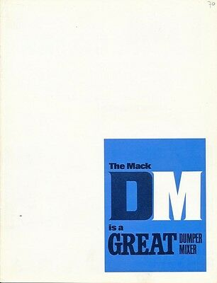 Original Mack DM600 DM800 Truck Brochure Prospekt Dumper Mixer heavy duty
