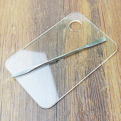 Acrylic Palette Stainless Steel Spatula Makeup Nail Foundation Mixing Tool Set