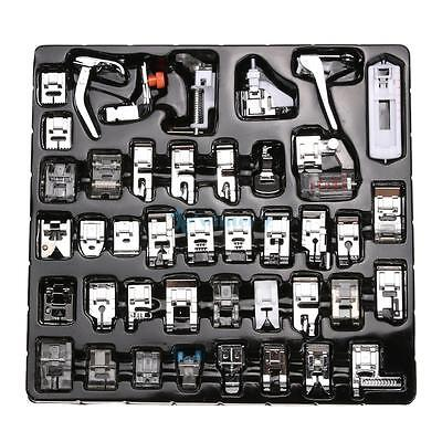 42 PCS Domestic Sewing Machine Foot Feet Snap On For Brother Singer Set Tools UK