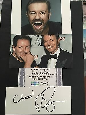 Ricky Gervais hand signed autograph of actor & presenter