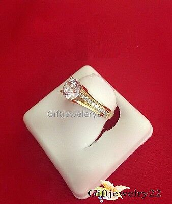 1.28 CT Diamond Engagement Bridal Wedding Ring Round Cut D/VVS1 10K Yellow Gold