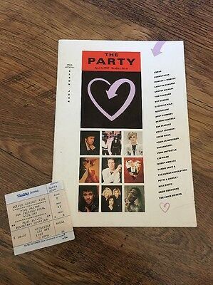 ❣RARE❣PROGRAMME & TICKET•The Party:AIDS Benefit~Boy/George Michael/Holly Johnson