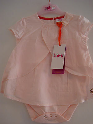 Ted Baker Baby Girls Layered Romper Bodysuit In Pink 6 - 9 Months BNWT