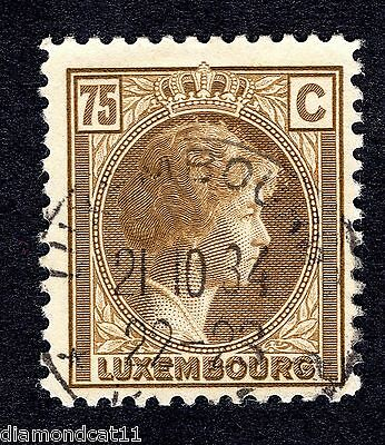 1926 Luxembourg 75c Brown SG 252a FINE USED R24524