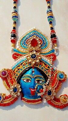 Hindu Goddess Kali Face Mask Pendant/necklace,couture Piece, Rare