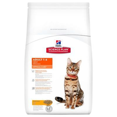 Hills Science Plan Optimal Care Adult Cat Dry Food With Chicken Tuna Lamb Rabbit