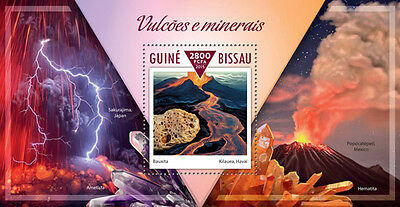 Guinea Bissau 2015 Volcanoes and Minerals Mining S/S GB15302