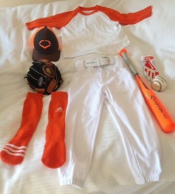 Boys Baseball Kit Bat Glove Cap Top Trousers Socks