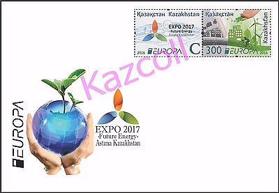 Kazakhstan 2016.  Europa - CEPT. Think Green. EXPO 2017.  A letter to Your addre