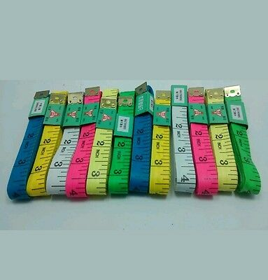 2pc BODY MEASURING RULER SEWING CLOTH TAILOR TAPE MEASURE SOFT FLAT 60INCH 150CM