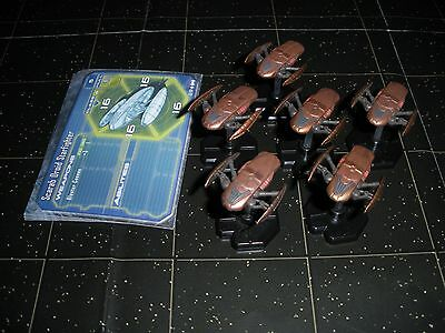 Star Wars Micro Starship Battles Lot Scarab Droid Starfighter X6 52/60 Machines