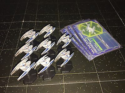 Star Wars Micro Starship Battles Lot X8 Vulture Droid Starfighter Advanced 60/60