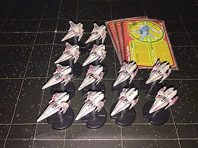 Star Wars Micro Starship Battles Lot X12 V-Wing Starfighter 26/60 Machines