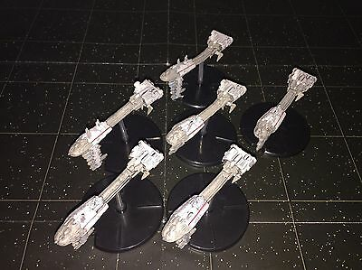 Star Wars Micro Starship Battles Lot X6 Rebel Cruiser 9/60 Machines No Cards