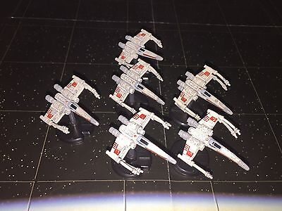 Star Wars Micro Starship Battles Lot X6 X-Wing Starfighter 26/60 No Cards
