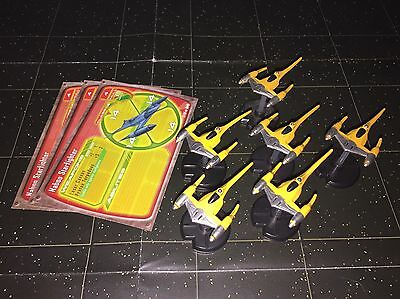 Star Wars Micro Starship Battles Lot X6 Naboo Starfighter 21/60 Machines