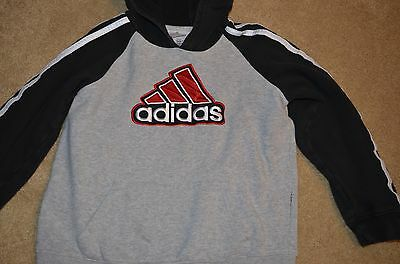Youth Boys Girls Size Small 6-7 Adidas Hoodie Sweatshirt Long Sleeve