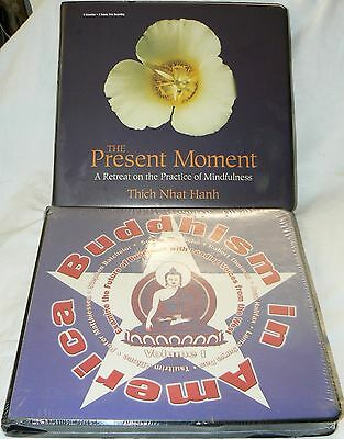 2 audio books Buddhism in America (Sealed), The Present Moment - Thich Nhat Hahn