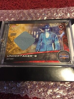 The Undertaker Wrestlemania 33 Topps Now WWE Relic True 1/1 Holy Grail In Hand