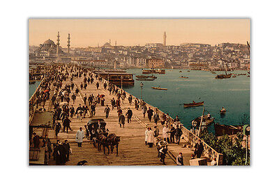 Ottoman 1800s Istanbul City Poster Art Wall Print Home Office Decoration Picture