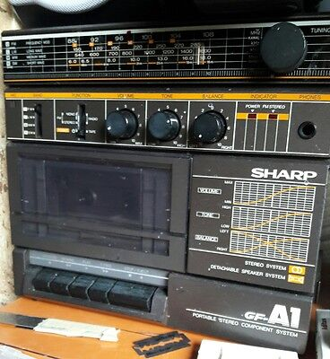 Vintage ancienne radio Sharp GF-A1 Portable Stereo Component System Boombox