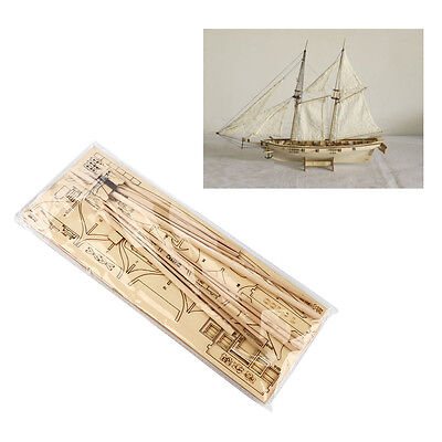 1/100 Hobby HALCON 1840 Sail Boat Wooden Model Kit Assemble Display Wood Ship