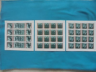 Manama 1971 Stamps, Kennedy Set Of 3 Full Sheets! Rare!