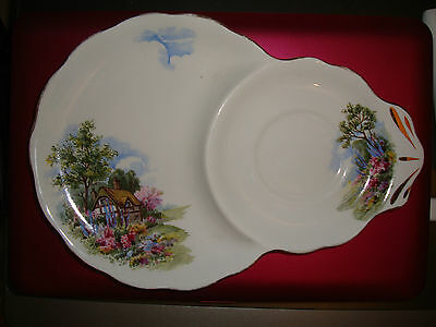 Royal Standard Country Cottage Bone China Saucer Plate (Chapmans of Longton)