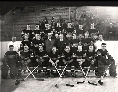 Montreal Canadiens 1933-34 NHL Season Team Unsigned 8x10 Photo