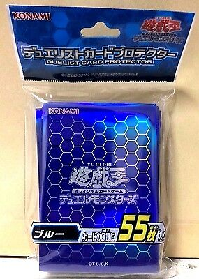 Yugioh Official Card Sleeve Protector : Blue / 55pcs japan F/S