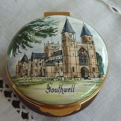 "Crummles & Co Enamel  Box ""Southwell "" In Good Condition."