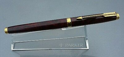 Parker 75 fountain pen Brown THUYA lacquer Gold trim 14k solid gold nib 1989