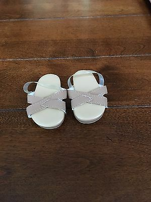RETIRED American Girl Doll Julie Meet Outfit Sandals Shoes ONLY EUC