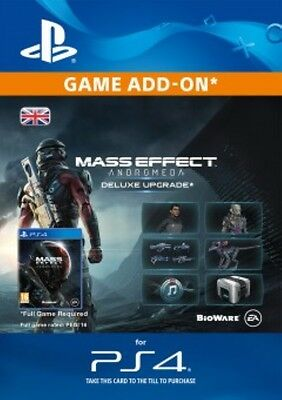 Mass Effect Andromeda Deluxe Upgrade DLC UK PS4 - SAME DAY DISPATCH