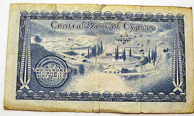 Cyprus 250 Mils Banknote Dated 1.5.1973.   (D3)