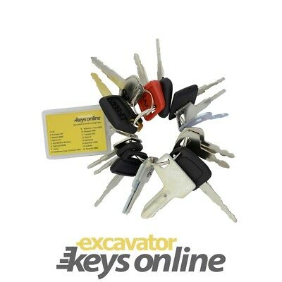 Ultimate Key Master Set (16 Keys for Cat, Komatsu, Hitachi, Volvo, JCB, Manit...