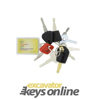 Excavator Key Set (9 Keys for Caterpillar, Komatsu, Hitachi, Volvo, Kobelco/ ...