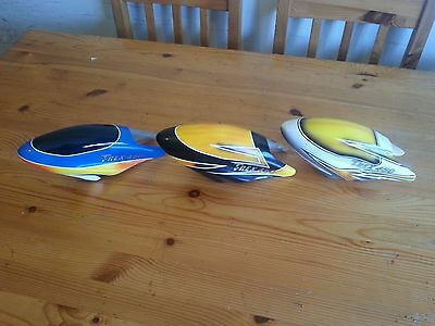 3 Painted Fiberglass Canopy Used For  ALIGN T REX 450 Helicopter