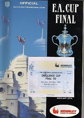 1989 fa cup final Everton v Liverpool programme/ticket/*VGC*