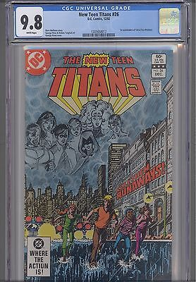 New Teen Titans #26  CGC 9.8 1982 DC Comic: 1st Terra appearrance:  New Frame