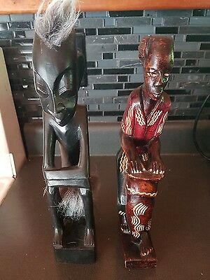 Wood Carved Tribal Men